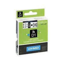 DYMO D1 45013 NOIR SUR BLANC S0720530 12mm x 7m étiquette cassette-authentique -