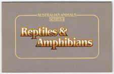AUSTRALIA STAMP PACK 1983 'ANIMALS SERIES II - REPTILES & AMPHIBIANS' - MINT MNH