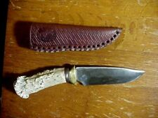LOCAL KNIFE MAKER Handmade Custom HUNTING KNIFE with Stag Handle