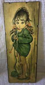 Vintage Flolylle Big Eye Girl Picture