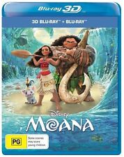 Moana 3D + 2D Blu-ray BRAND NEW SEALED Region B