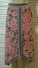 INC International Concepts Paisley-Print Handkerchief Hem Maxi Skirt PSmall