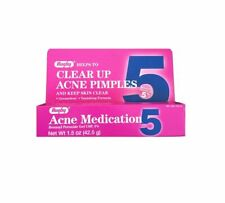 Rugby Acne Medication Benzoyl Peroxide Gel 5 % 1.5 oz Pack of 6, Exp 03/21