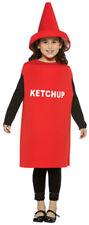 Ketchup Bottle Kids Halloween Costume size 7-10