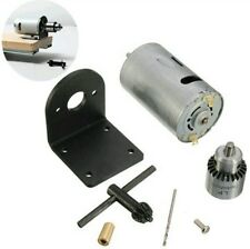 12-24V Lathe Press Motor with Drill Chuck and Mounting Bracket