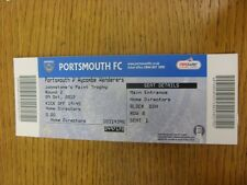 09/10/2012 Ticket: Portsmouth v Wycombe Wanderers [Johnstones Paint Trophy] . Th