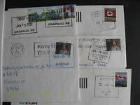 CANADA 5 Prince Edward Island mostly POCON cancels on cover(possible duplicates)