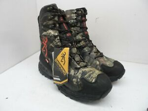 """Browning Men's 8"""" Buck Shadow Insulated Hunting Boots Camouflage Size 11M"""