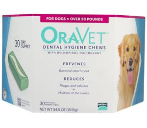 Oravet  Dental Hygiene Chews Large Dogs Over 50 lbs, 30 Chews
