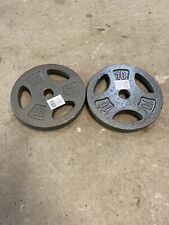"Set Of Two (2) 10lb Weight Plates (20lb Total) 1"" Inch - New - Free Shipping"