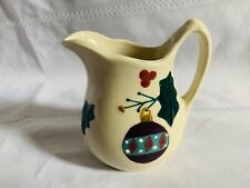 Hartstone Pottery Christmas Traditions Creamer Pitcher 4-1/2""