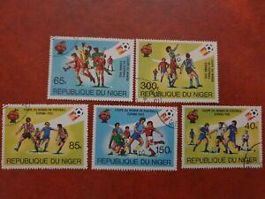 Niger - 19831 - Espana 82 world cup soccer - 5 stamp set - CTO