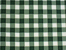 BOTTLE FOREST GREEN GINGHAM CHECK KITCHEN PATIO OILCLOTH VINYL TABLECLOTH 48x72