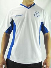 DIADORA CSS Saints #31 White Blue V Neck  Jersey Shirt Unisex Med.  MJS34