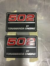 NOS 502 By Tonawanda Cubic Inch GM Performance Valve Cover Badges- Overstock