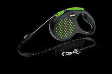 Flexi elastisch Design Hund Cord Leine, mittlere Größe 5m, grün