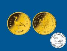 Deutschland 20 Euro 2020 Weißstorch * Prägestätte A * 1/8 oz 999 Gold ST