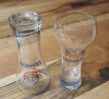 Erdinger Weissbräu 2 x 4 cl Schnaps Gläser NEU - Weißbier Weizen Optik