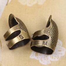 Retro DIY Hand Sewing Thimble Finger Shield Protector Supply Metal Ring V1X2
