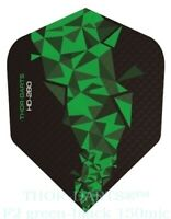 THOR-DARTS 150 micron Flights grün - schwarz, green darts flights 150 mic F2