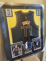 Luka Doncic Authentic Autograph Framed Jersey Special NBA Edition Beckett 77