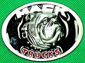 "Belt Buckle ""MACK"" Trucks, Fit 4 cm Wide DIY, Custom Metal Casting."