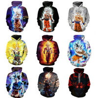 Hoodies Jacket Anime Dragon Ball Super Super Saiyan Goku Ultra Instinct Vegeta