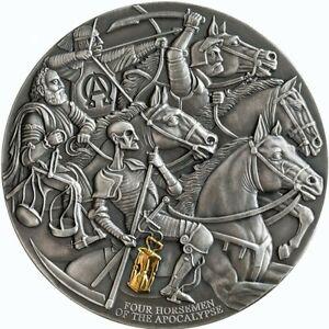 Four Horsemen of The Apocalypse Apocalypse 3 oz  Silver Coin CFA Cameroon 2019