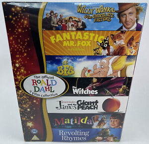 The Official Roald Dahl 7 Film DVD Collection - New & Sealed