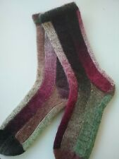 Hand Knitted Wool Socks Size 5