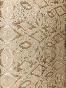 Vintage Gold Patterned Soft furnishing fabric remnants