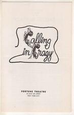 "Jill Clayburgh  ""Calling In Crazy""    Playbill   1969  Off-Broadway  Rick Lenz"