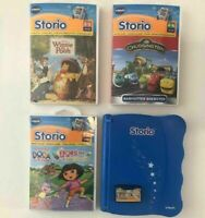 Vtech Electronic Educational Storio Animated Reading System & 4 Game Cartridges