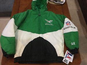 Vintage Philadelphia Eagles 1990's Winter Jacket Logo Athletic NWT Kids XL 18-20