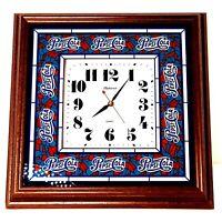 "Pepsi-Cola Vintage Clock Hanover Quartz Wood Frame 14.5"" x 14.5"""