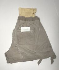 NWT A Glow Women's Shorts Belly Band Size L MAT Brown Free U.S. Shipping!!!