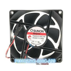 SUNON PE80252V2-000C-A99 24V 3.99W 8025 8cm Magnetic Cooling Fan