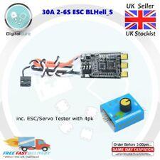 2-6S 30AMP 30A Brushless ESC BLHeli_S 16.7 DSHOT + ESC/Servo Tester (with 4pk)