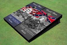 Custom Yankees And Rebels Civil War Patriotic Custom Cornhole Board