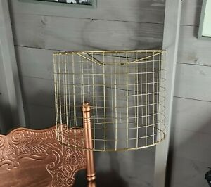 Handmade Gold Cage Chandelier Light Lightshade Lamp DIY Birdcage Bird Shade Wire