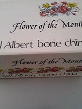 VTG Royal Albert December Flower Of The Month, 3 Piece, In Original Box, Mint