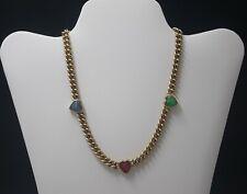 Carolee Vintage Scarab Necklace Choker Signed