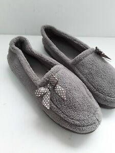 Ladies Beige Brown Slippers Boots Bow Rubber Sole Size 6 Vgc