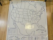 Hubbard Scientific Markable Climagraph Weather Map Wall Chart 2-Sided Usa World