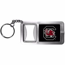 South Carolina Gamecocks Flashlight Key Chain with Bottle Opener NCAA Licensed