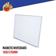 Magnetic White Board 1000 X 700mm Wall Mounted Whiteboard With Aluminium Frame