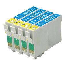 4 Cartouches d'encre Cyan pour Epson Stylus R200 R300 R330 R350 RX320 RX600 RX640