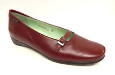 MEPHISTO Size 10 Dark Red Mary Jane Ballet Flats Shoes