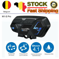 M1-S Pro Interfono per moto Auricolare Bluetooth Interfono 8 Riders Group 2000m