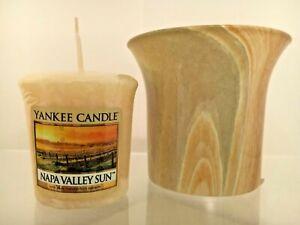 Yankee Candle~MARBLE COLLECTION VOTIVE HOLDER ~W/Bonus Votive *New*